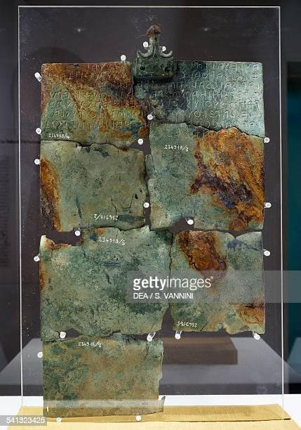 Tabula Cortoniensis Side B bronze plate with Etruscan inscription Etruscan civilisation 2nd century BC Cortona Museo Dell'Accademia Etrusca