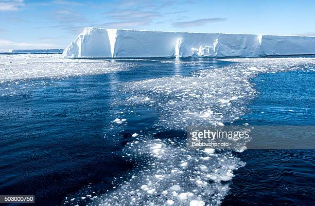 Iceberg tabulaire et Chaussures Brash glace, Antarctique