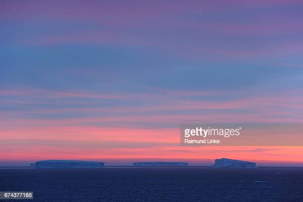 Tabular Iceberg at sunrise
