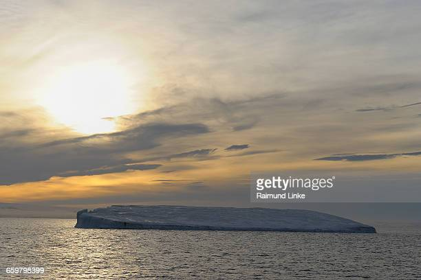 Tabular Iceberg at sunset