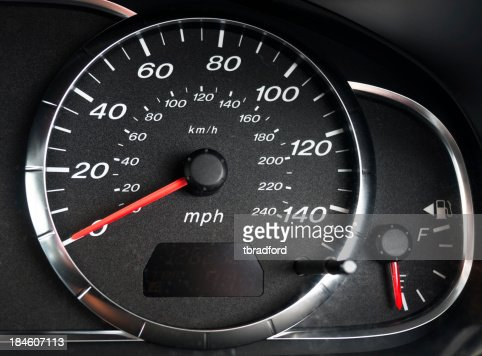 Tachometer And Fuel Gauge In A Car