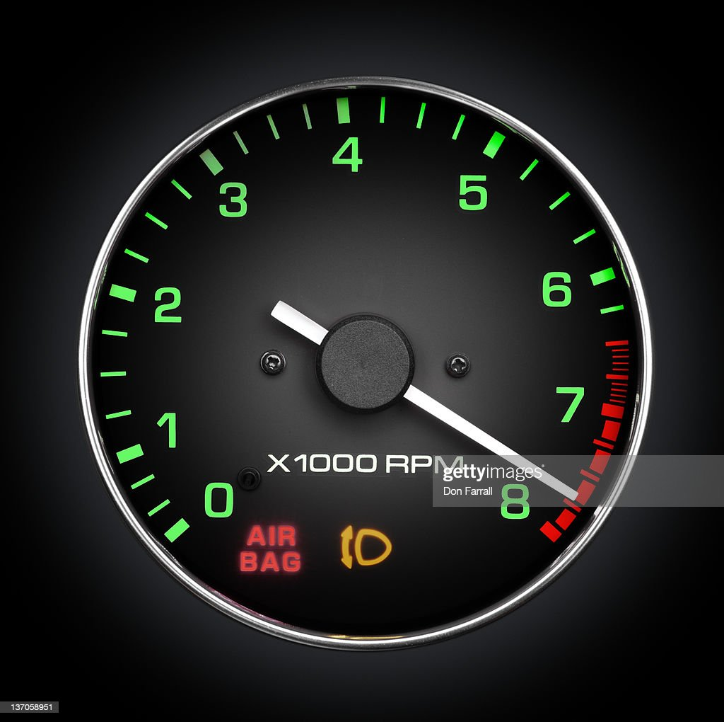 Tachometer, high RPM, Red Line.