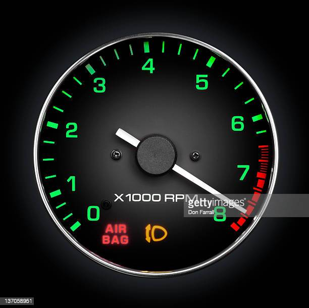 Tachometer, high RPM, Red Line.