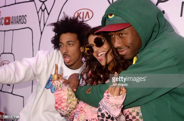 Taco Bennett MIA and Tyler The Creator attend the YouTube Music Awards 2013 on November 3 2013 in New York City
