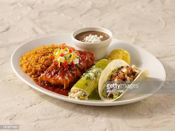 Taco, Burrito, Enchilada Combo
