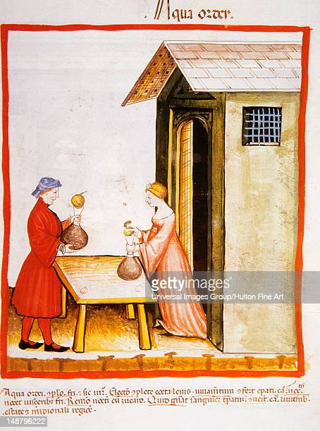 Tacuinum Sanitatis Medieval Health Handbook dated before 1400 based on observations of medical order detailing the most important aspects of food...