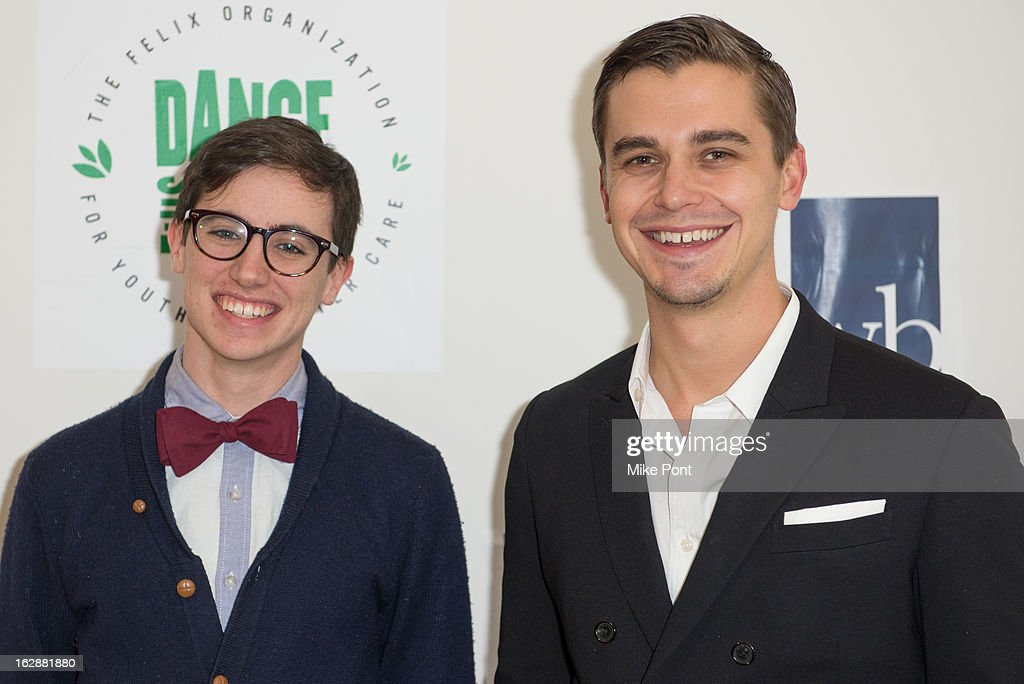 Tad D'agostino and Antoni Porowski attend the Dance This Way launch party at WB Wood on February 28, 2013 in New York City.