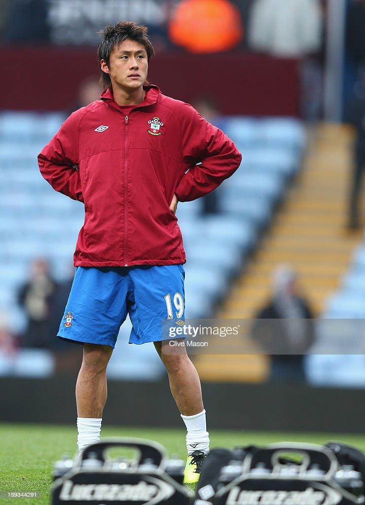 Tadanari Lee of Southampton warms up before the Barclays Premier League match between Aston Villa and Southampton at Villa Park on January 12, 2013 in Birmingham, England.