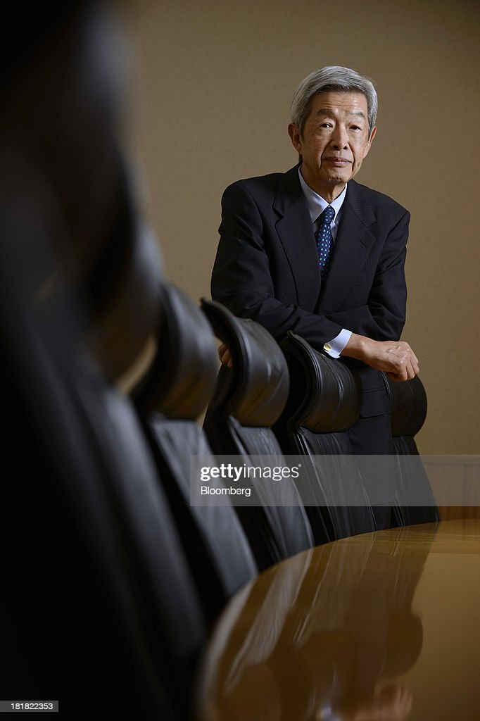 Tadashi Ezaki, president and chief executive officer of Tokyo Commodity Exchange Inc., poses for a photograph after an interview in Tokyo, Japan, on Wednesday, Sept. 25, 2013. Tokyo Commodity Exchange, Japan's biggest raw materials bourse, plans to attract more trading from investors in China and India to boost volume that's peaking as the yen's slide stalls near 100 to the dollar. Photographer: Akio Kon/Bloomberg via Getty Images