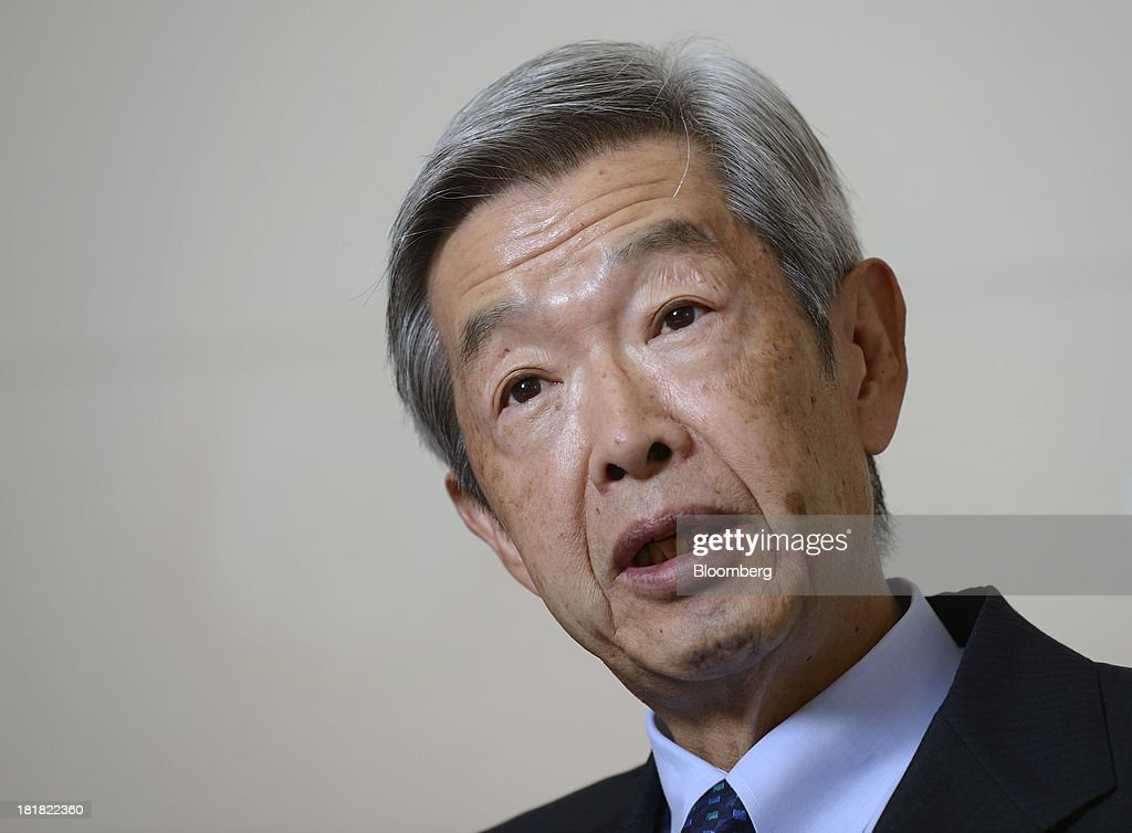 Tadashi Ezaki, president and chief executive officer of Tokyo Commodity Exchange Inc., speaks during an interview in Tokyo, Japan, on Wednesday, Sept. 25, 2013. Tokyo Commodity Exchange, Japan's biggest raw materials bourse, plans to attract more trading from investors in China and India to boost volume that's peaking as the yen's slide stalls near 100 to the dollar. Photographer: Akio Kon/Bloomberg via Getty Images