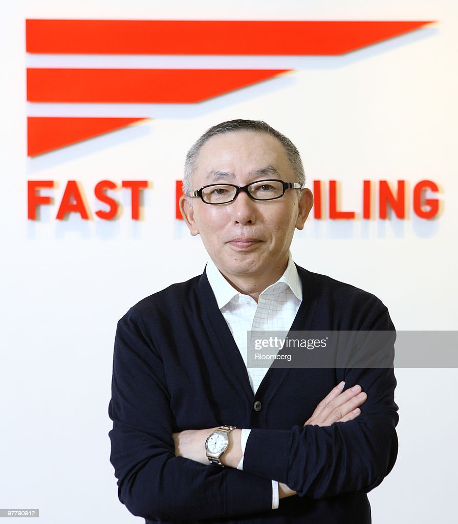 <a gi-track='captionPersonalityLinkClicked' href=/galleries/search?phrase=Tadashi+Yanai&family=editorial&specificpeople=558842 ng-click='$event.stopPropagation()'>Tadashi Yanai</a>, chairman, president and chief executive officer of Fast Retailing Co., poses for a photograph after an interview in Tokyo, Japan, on Tuesday, March 16, 2010. Fast Retailing Co., Asia's biggest clothing retailer, expects overseas sales to overtake domestic revenue in as soon as four years, driven by expansion of its Uniqlo stores in China and South Korea.Photographer: Tomohiro Ohsumi/Bloomberg via Getty Images