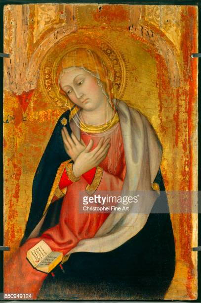 Taddeo Di Bartolo Virgin of the Annunciation 14001405 Oil on wood 077 x 051 m Avignon musee du Petit Palais