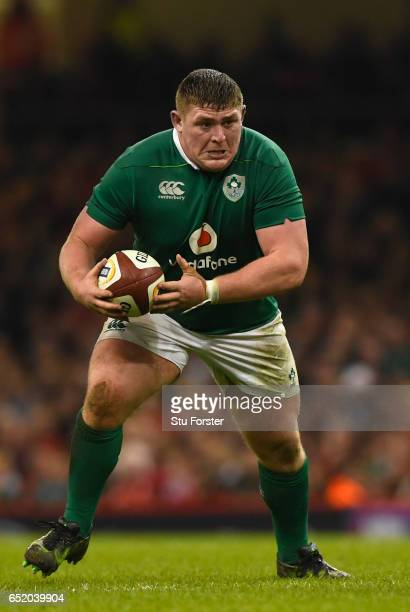 Tadhg Furlong of Ireland in action during the Six Nations match between Wales and Ireland at the Principality Stadium on March 10 2017 in Cardiff...