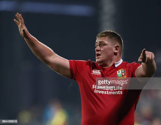 Tadhg Furlong of the Lions looks on during the match between the Crusaders and the British Irish Lions at AMI Stadium on June 10 2017 in Christchurch...