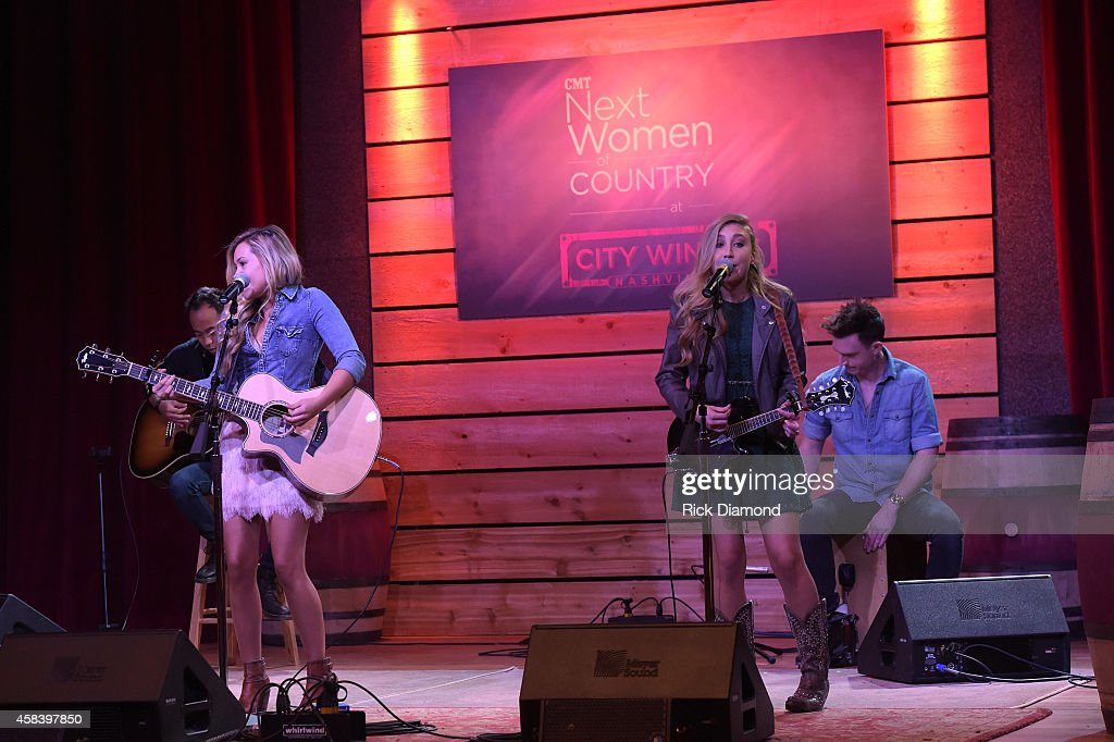 Tae Dye and Maddie Marlow perform at the CMT Next Women Of Country at City Winery Nashville on November 4, 2014 in Nashville, Tennessee.