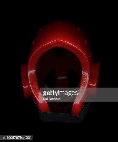Tae Kwon Do helmet, on black background : Stock Photo