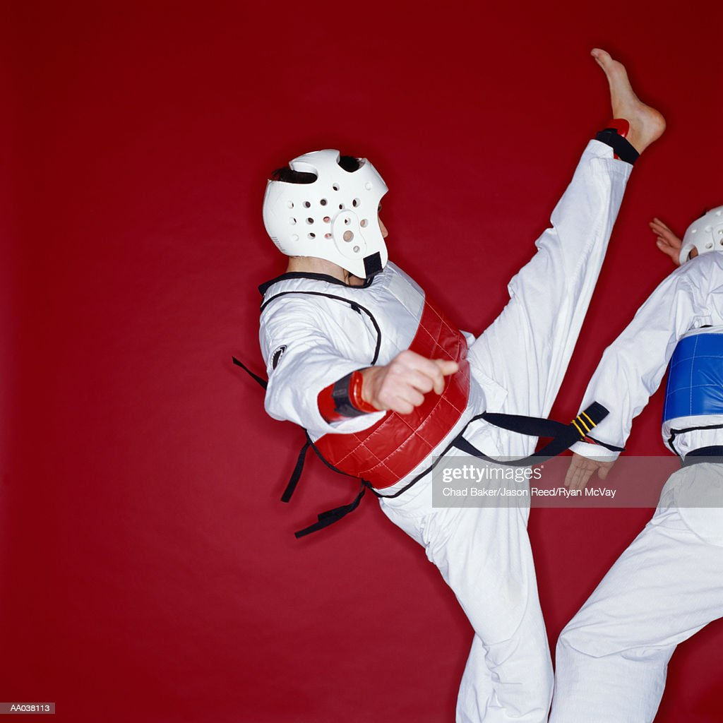 Tae Kwon Do Kick : Stock Photo