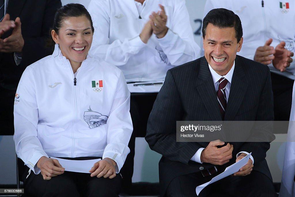 Enrique Pena Nieto Farewells Mexico Olympic Team