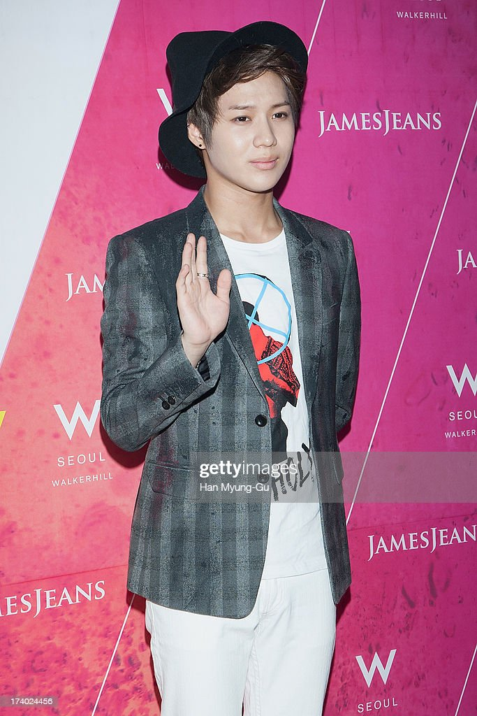 Taemin of South Korean boy band SHINee attends during a promotional event for the 'JamesJeans' 2013 F/W Showcase at the W Hotel on July 19, 2013 in Seoul, South Korea.