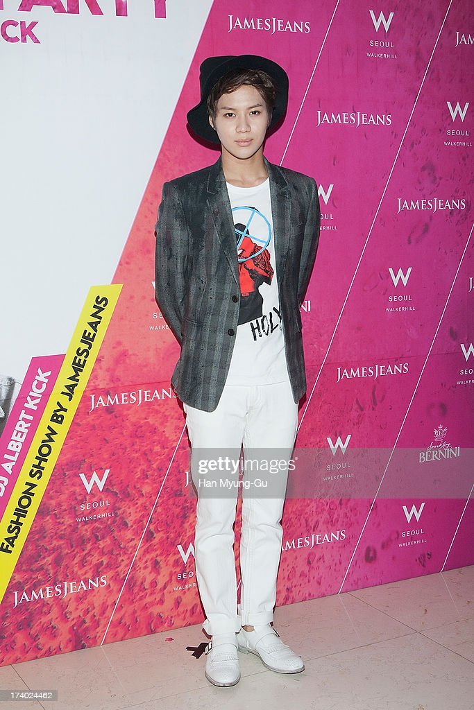 <a gi-track='captionPersonalityLinkClicked' href=/galleries/search?phrase=Taemin&family=editorial&specificpeople=5636164 ng-click='$event.stopPropagation()'>Taemin</a> of South Korean boy band SHINee attends during a promotional event for the 'JamesJeans' 2013 F/W Showcase at the W Hotel on July 19, 2013 in Seoul, South Korea.