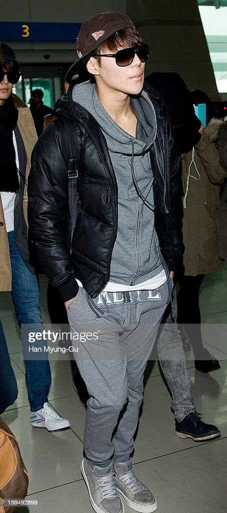 Taemin of South Korean boy band SHINee is seen at Incheon International Airport on January 13, 2013 in Incheon, South Korea.