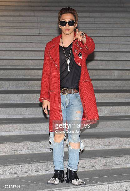 Taeyang arrives the Chanel 2015/16 Cruise Collection show on May 4 2015 in Seoul South Korea