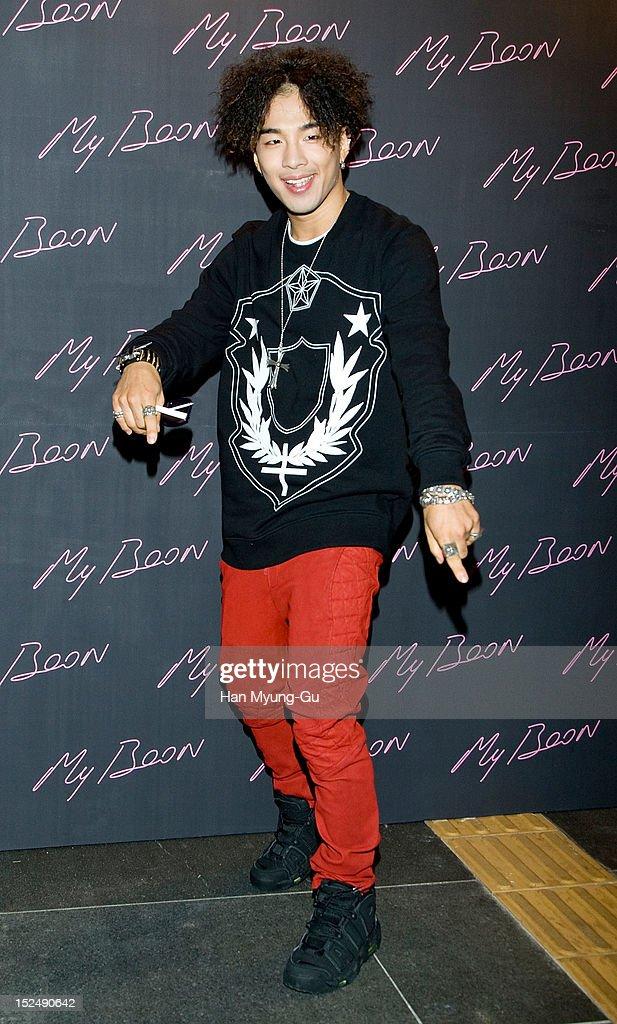 Taeyang of South Korean boy band Bigbang attends during the 'AMBUSH' Collaboration with GDragon of Bigbang Launching Party at My Boon on September 20...