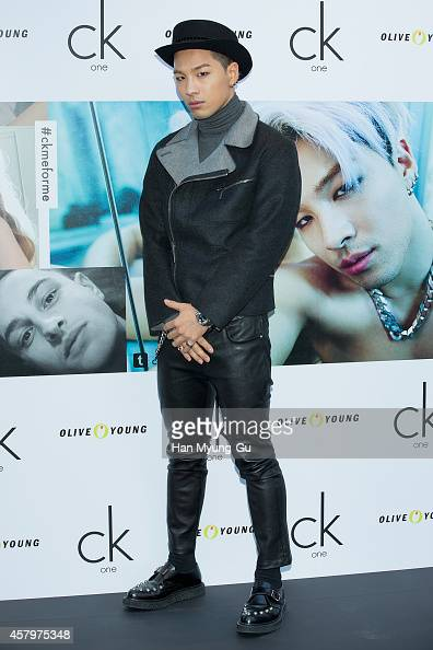 Taeyang of South Korean boy band Bigbang attends the autograph session for CK One on October 28 2014 in Seoul South Korea