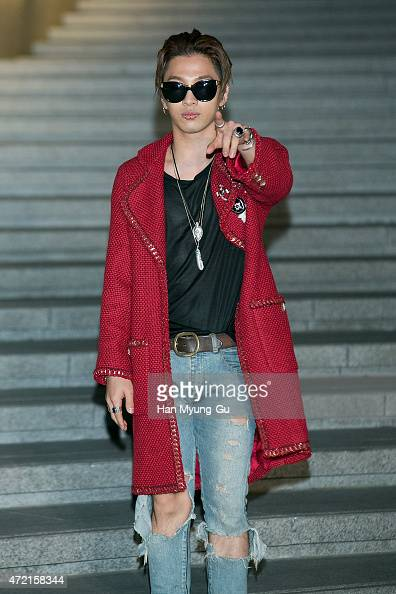 Taeyang of South Korean boy band Bigbang attends the Chanel 2015/16 Cruise Collection show on May 4 2015 in Seoul South Korea