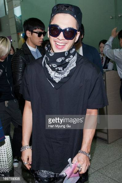 Taeyang of South Korean boy band Bigbang is seen on departure at Incheon International Airport on June 1 2013 in Incheon South Korea