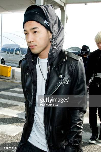 Taeyang of South Korean boy band Bigbang is seen on departure to China at Incheon International Airport on March 2 2013 in Incheon South Korea