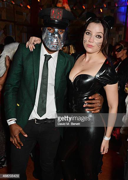 Tafari Hinds and Daisy Lowe attend 'Death Of A Geisha' hosted by Fran Cutler and Cafe KaiZen with Grey Goose on October 31 2014 in London England