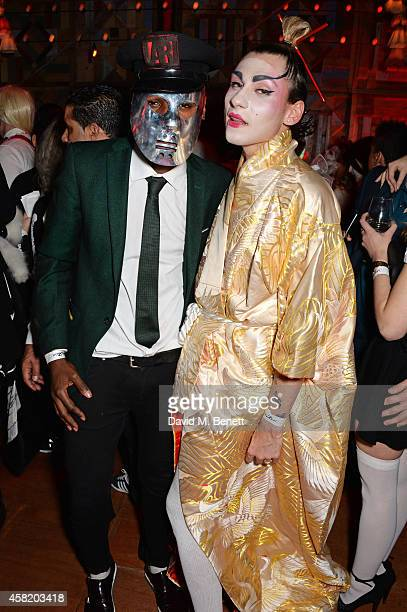 Tafari Hinds and Kyle De'volle attend 'Death Of A Geisha' hosted by Fran Cutler and Cafe KaiZen with Grey Goose on October 31 2014 in London England