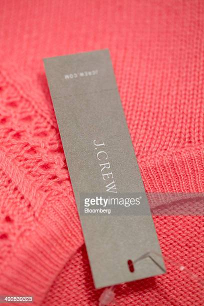 A tag is displayed on a shirt at JCrew Group Inc's new women's only store inside the International Finance Centre mall in the Central district of...