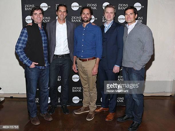 Tagg Romney Josh Romney Craig Romney Ben Romney and Matt Romney attend SLC Gala Reception Presented By Zions during 2014 Sundance Film Festival at...