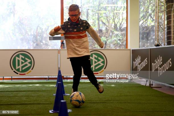Taggleparcours during the B and C Juniors German Indoor Football Championship at Sporthalle West on March 26 2017 in Gevelsberg Germany