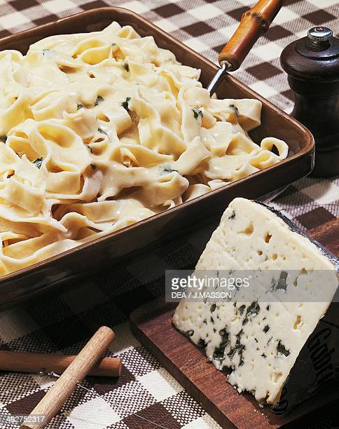 Tagliatelle with Roquefort cheese