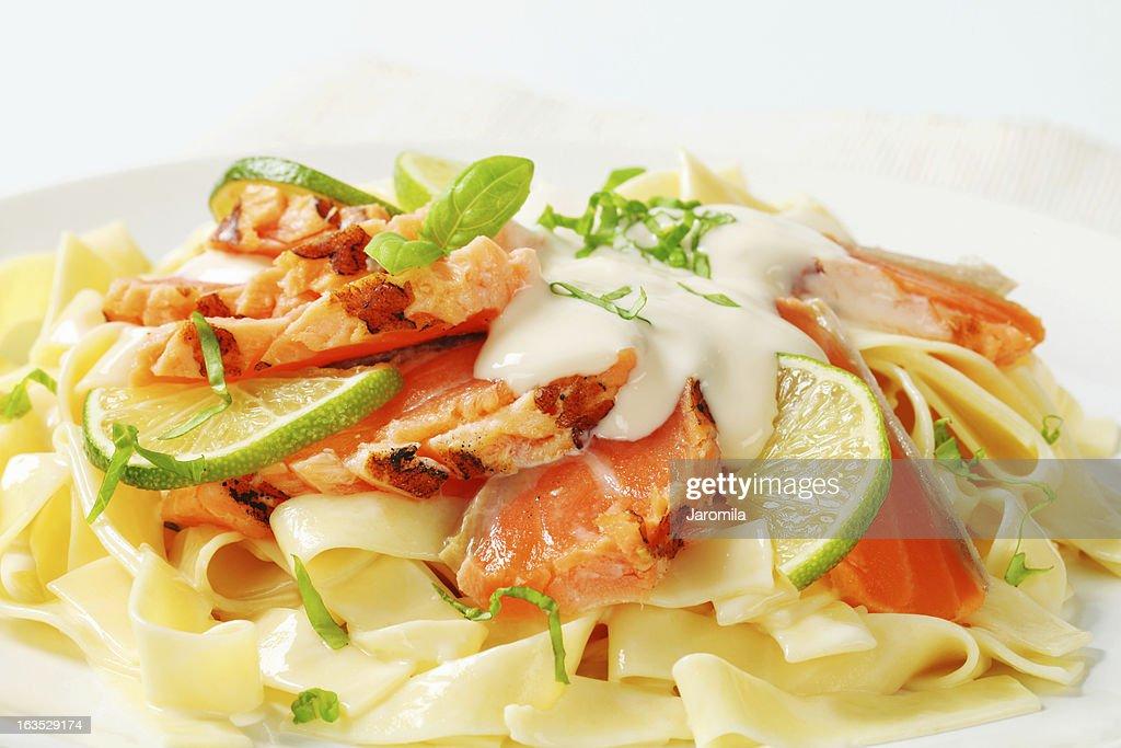 tagliatelle with salmon