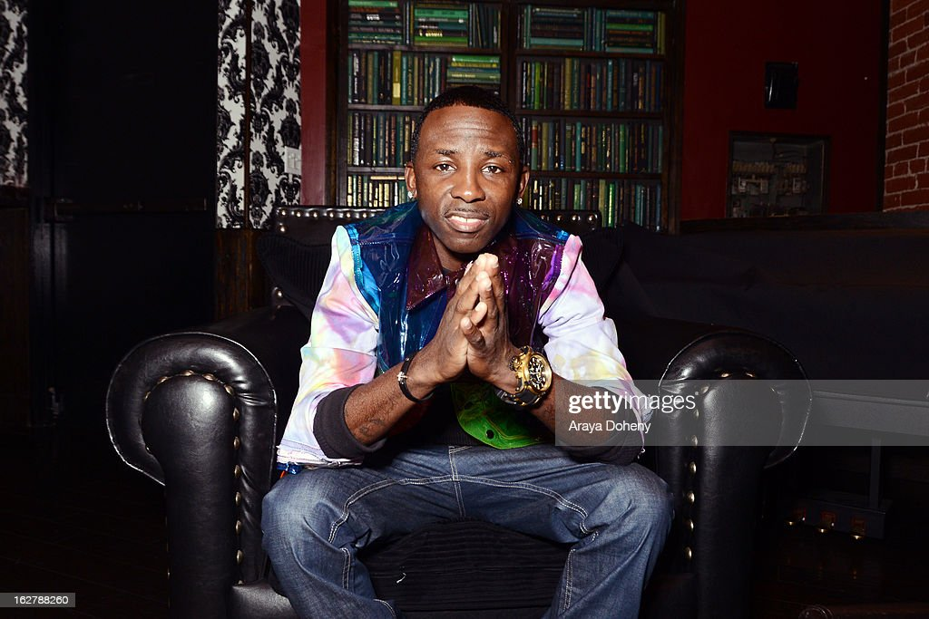 Tah Mac poses backstage at the Gibson Guitar and TahMc Entertainment presents 'The Love, Life And Reality Show' at Federal Bar on February 26, 2013 in Hollywood, California.