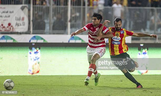 Taha Yassine Khnissi of Esperance Sportive in action during the Tunisian Professional League 1 football match between Esperance Sportive and Club...