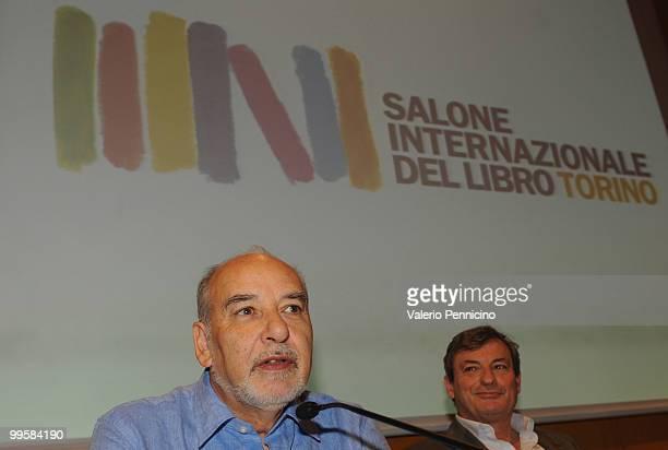 Tahar Ben Jelloun and Oliviero Beha attend the ''Il razzismo spiegato a mia figlia'' and ''L'Islam spiegato ai nostri figli'' books presentation...