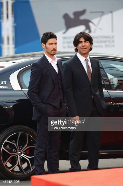 Tahar Rahim and Fatih Akin attend the 'The Cut' premiere during the 71st Venice Film Festival on August 31 2014 in Venice Italy