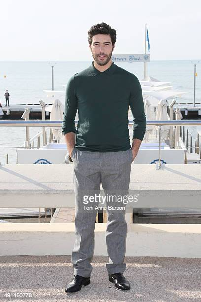 Tahar Rahim attends 'The Last Panthers' photocall as part of MIPCOM 2015 on La Croisette on October 5 2015 in Cannes France
