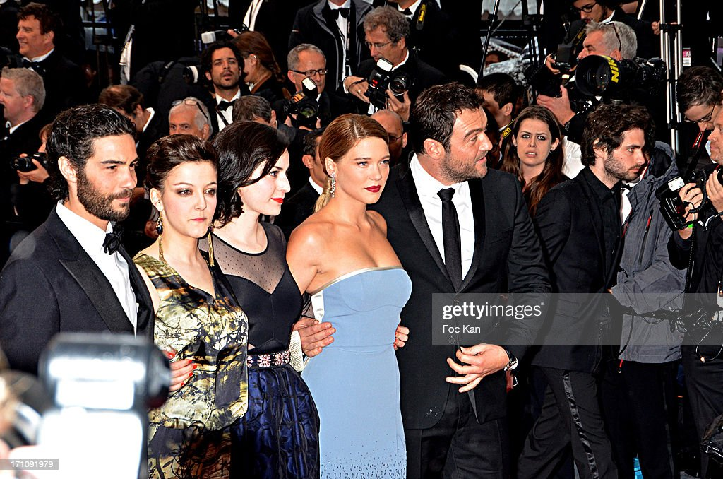 Tahar Rahim, Camille Lellouche, Rebecca Zlotowski, Lea Seydoux and Denis Menochet attend the Premiere of 'Jimmy P. (Psychotherapy Of A Plains Indian)' at Palais des Festivals during The 66th Annual Cannes Film Festival on May 18, 2013 in Cannes, France.
