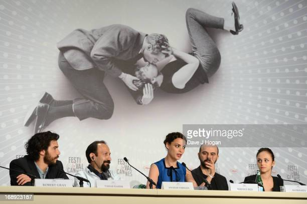 Tahar Rahim director Asghar Farhadi actress Berenice Bejo Ali Mosaffa and Pauline Burlet attend 'Le Passe' Press Conference during the 66th Annual...