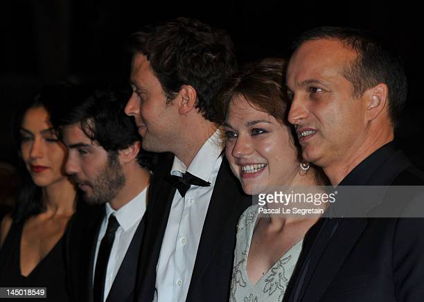 Tahar RahimEmilie Dequenne and Joachim Lafosse attend 'The Angels' Share' Premiere during 65th Annual Cannes Film Festival at Palais des Festivals on...