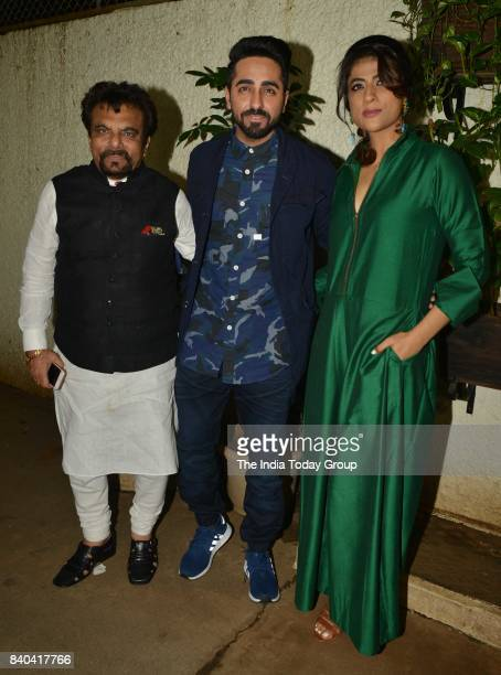 Tahira Kashyap and Ayushmann Khurrana during the special screening of Bareilly Ki Barfi in Mumbai