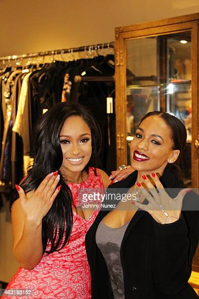 Tahiry Jose and Melyssa Ford attend the LOVE TAHIRY Nail Polish Launch Celebration on February 10 in New York City