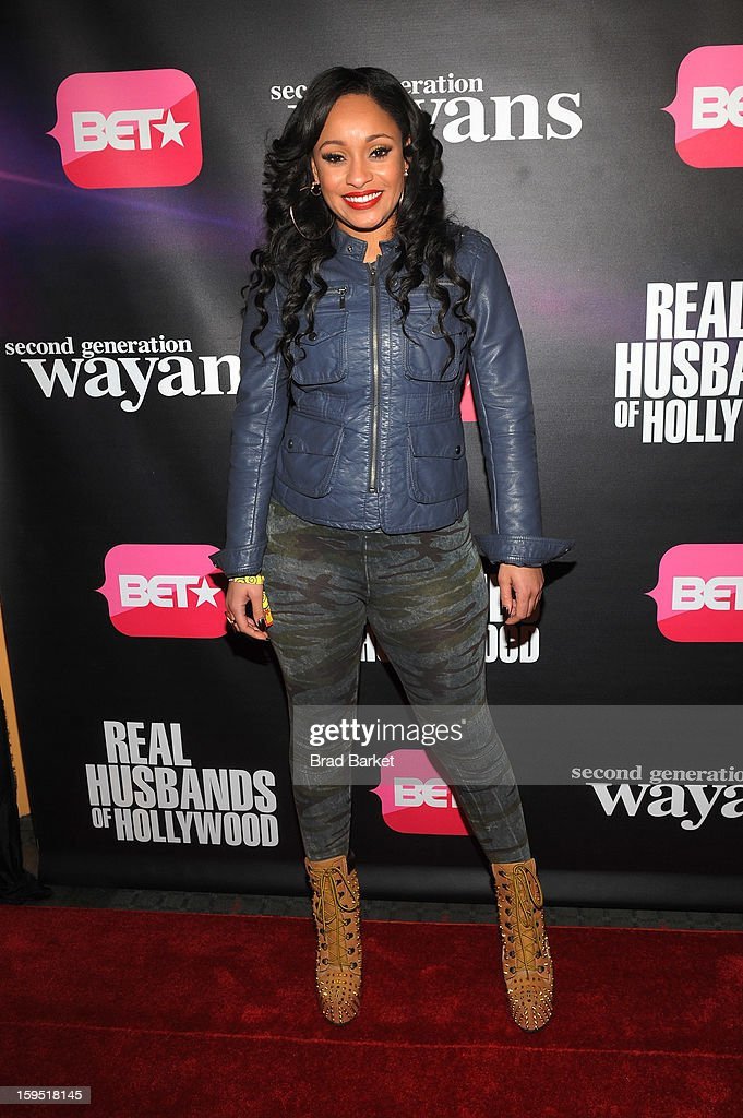 Tahiry Jose attends BET Networks New York Premiere Of 'Real Husbands of Hollywood' And 'Second Generation Wayans' at SVA Theater on January 14, 2013 in New York City.