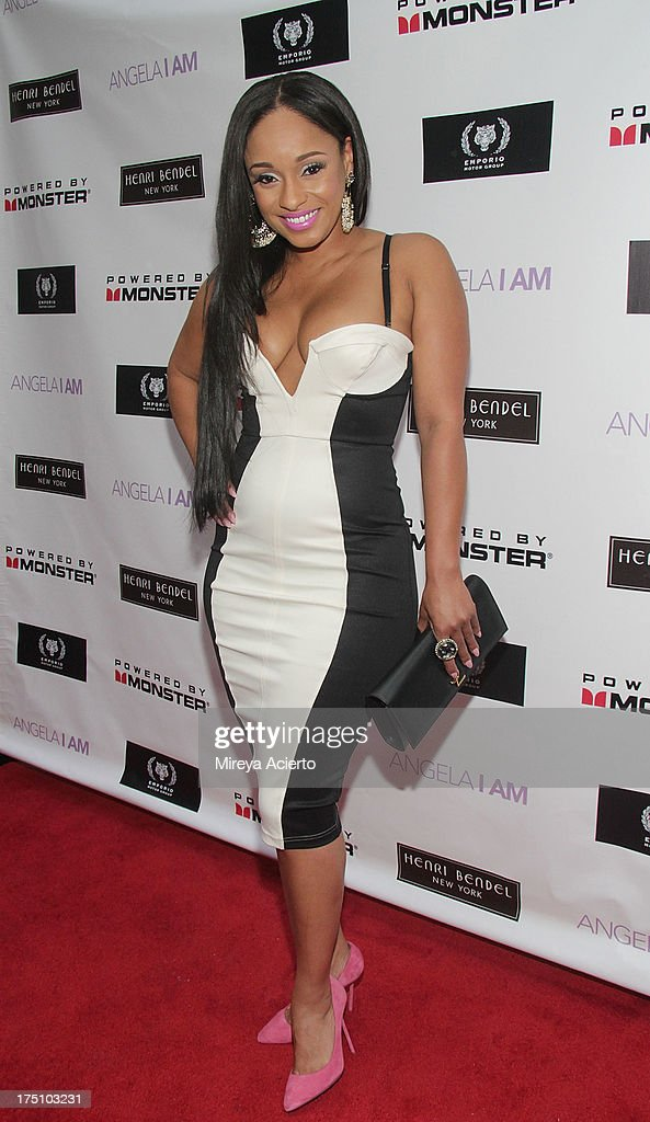 Tahiry Jose attends the Angela I Am launch at Henri Bendel on July 31, 2013 in New York City.